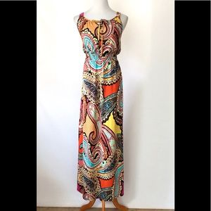 New Directions Sleeveless Keyhole Boho Maxi